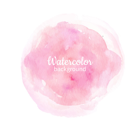 Watercolor pink abstract hand painted background. Watercolor vector texture. Great for card, flyer, poster. Ilustração