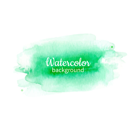 Watercolor geen abstract hand painted background. Watercolor vector texture. Great for card, flyer, poster. Illustration