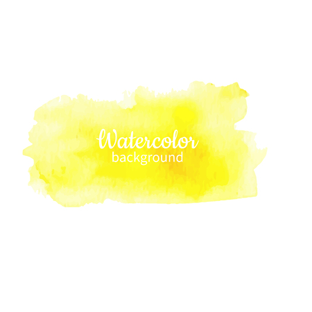 Watercolor yellow abstract hand painted illustration.