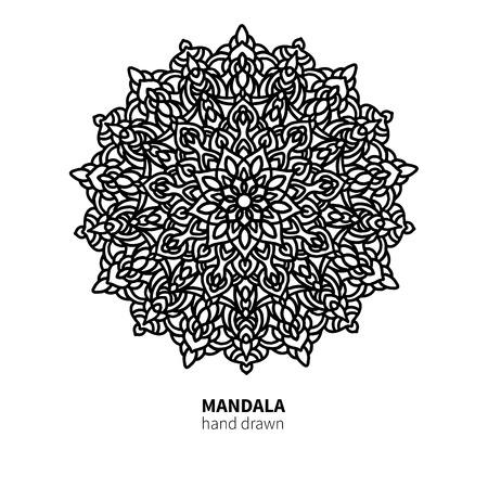 Mandala flower drawing. Illustration