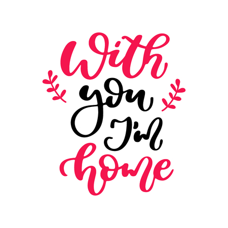 Valentine s Day vector lettering isolated handwriting calligraphy.