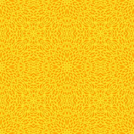 Etnisch vector bloemen naadloos patroon met mandala's. Stock Illustratie