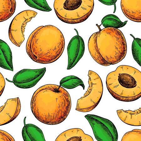 Abrikoos patroon ontwerp
