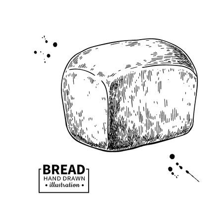 Bread vector drawing. Bakery product sketch. Vintage food illustration for shop, bread house label, menu or packaging design. Ilustrace