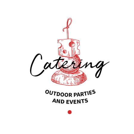 Catering logo concept. Illustration
