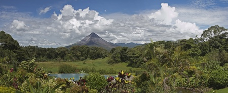 fortuna: Panoramic view of Arenal Volcano, Costa Rica Stock Photo