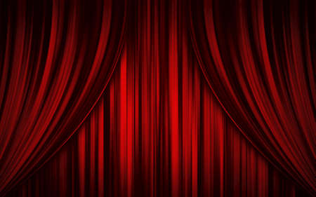theatre stage: Theatre stage curtain Stock Photo