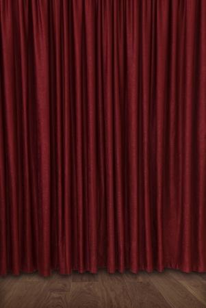 Samt geschlossenen Theatervorhang Standard-Bild