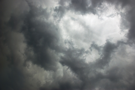 stormy sky covered with dark clouds Standard-Bild