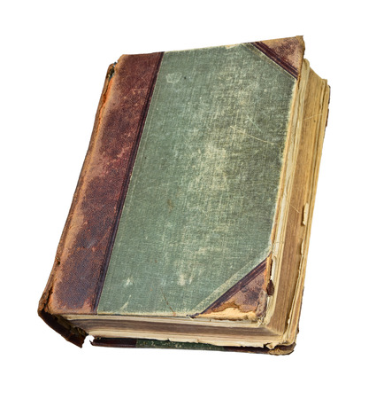 lex: Old book on white background