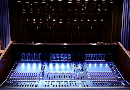 Working sound panel of the concert stage
