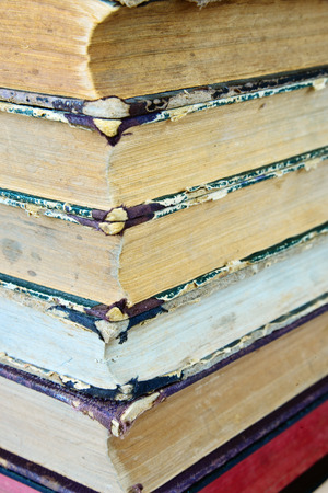 Pile of the old books photo