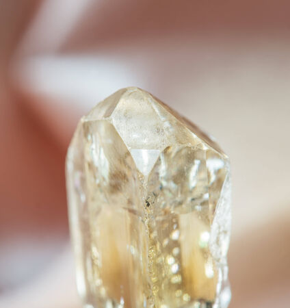 mineralogy: Natural crystal of clear precious wine topaz