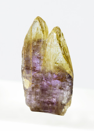 metaphysical: Two accreted crystal of raw (unheated) Tanzanite (Zoisite) Stock Photo
