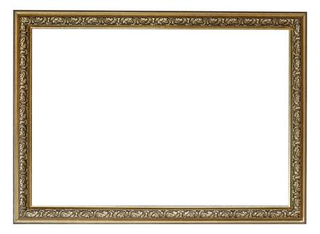 Blank vintage frame isolated on white background Standard-Bild