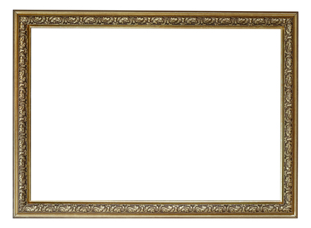 Blank vintage frame isolated on white background Stock Photo
