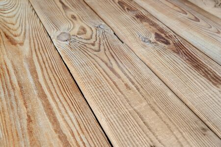 unpainted: Wooden surface, consisting of unpainted boards, going in perspective Stock Photo