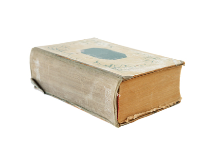 big bible: Thick old book isolated on a white background Stock Photo