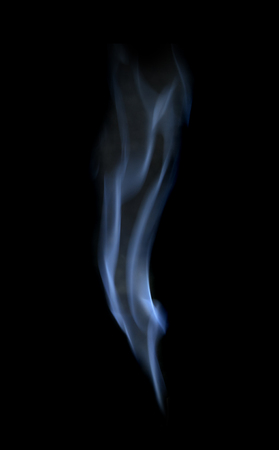 Abstract defocused white smoke isolated on black background