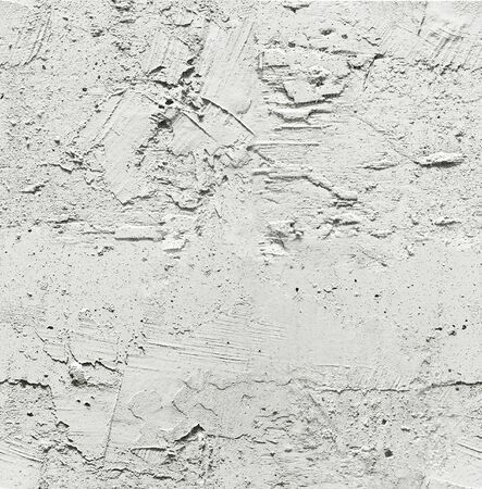 Industrial background of the plot of gray wall covered with rough plaster as a seamless pattern