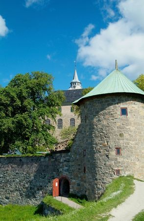The medieval fortress Akershus in Oslo, Norway photo