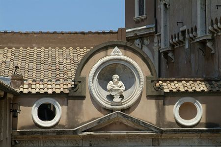 Detail of Castel Sant Angelo in Rome, Italy. photo