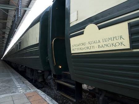 treno espresso: Vagoni di lusso treno espresso tra Singapore e Bangkok Archivio Fotografico