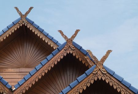 roof profile: Classic, northern style architecture from Chiang Mai, Thailand