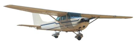 Licht, weiße Flugzeug Mitte-Luft isoliert auf einem weißen Hintergrund. Vector Graphics. Unbegrenzte Erweiterung möglich.