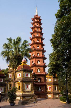 Tran Quoc Pagoda in Hanoi, Vietnam Standard-Bild