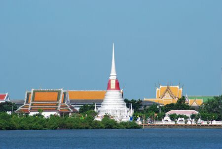 samut prakan: Phra Samut Chedi, a temple in Samut Prakan, near Bangkok in Thailand.  Stock Photo