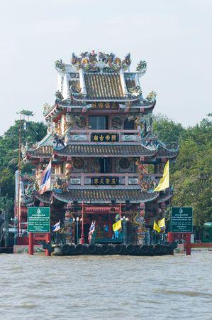 chao praya: The Chinese style pavilion at Princess Mother Memorial Park by the Chao Praya river in Thonburi, Bangkok, Thailand.