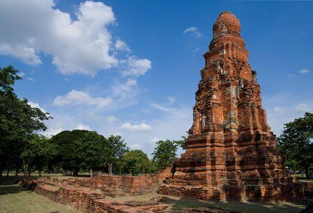 ayuttaya: Ancient temple ruin in a park in Ayuttaya, Thailand Stock Photo