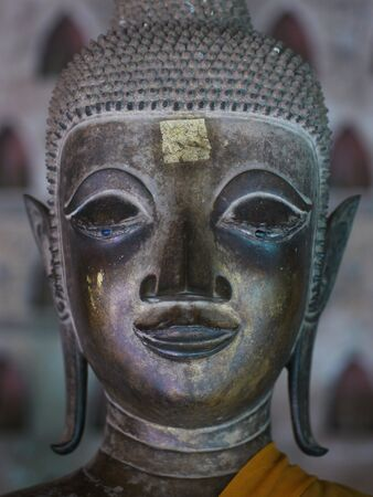 si: One of hundreds of Buddha images at Wat Si Saket in Vientiane, Laos. Stock Photo