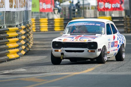 BANG SAEN - NOVEMBER 13: Classic British Ford Escort Mark I participating in the vintage car race during Bang Saen Speed Festival 2010 on November 13, 2010 in Bang Saen, Thailand. Stock Photo - 8194808