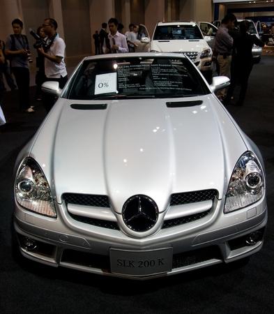daimler: BANGKOK - DECEMBER 2: Daimler Benz showing the latest version of the Mercedes Benz SLK 200 K at Motor Expo, Impact on December 2, 2010 in Bangkok, Thailand. Editorial