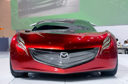 mazda: BANGKOK - DECEMBER 2: Mazda shows their Ryuga concept car at Motor Expo, Impact on December 2, 2010 in Bangkok, Thailand.