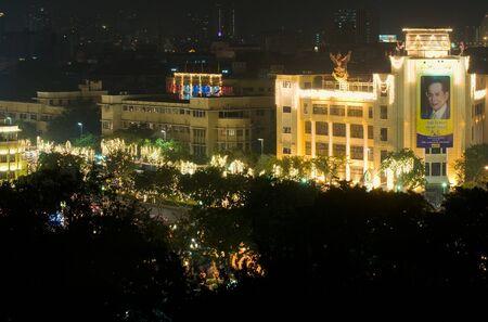 83rd: BANGKOK - DECEMBER 5: Decoration on Rachadamnoen road for the celebration of the 83rd birthday of HM King Bhumibol Adulyadej on December 5, 2010 in Bangkok, Thailand.
