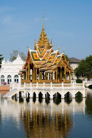 pavillion: The Aisawan Thipphaya-at Pavillion in the gardens of the old Royal Summer Palace in Bang Pa In, Ayuttaya province, Thailand Stock Photo