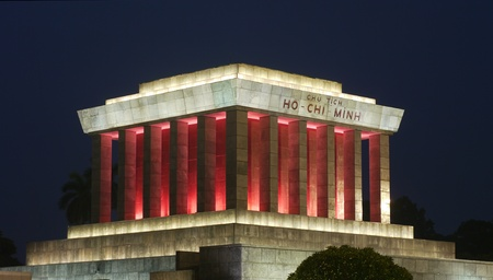 Night photo of the Ho Chi Minh Mausoleum in Hanoi, Vietnam Stock Photo - 10290599