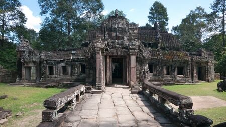 siem: Building at the Ta Prohm Temple in Siem Reap, Cambodia