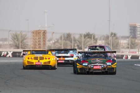 gt3: DUBAI - JANUARY 13: Rear of competitors at the 2012 Dunlop 24 Hour Race at Dubai Autodrome on January 13, 2012.