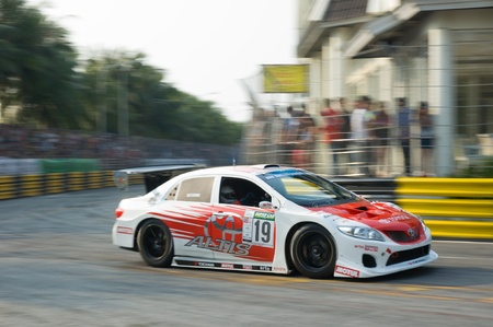 BANG SAEN - FEBRUARY 5: Toyota Corolla Altis racing during Bang Saen Speed Festival in Thailand on February 5, 2012. Stock Photo - 12160534