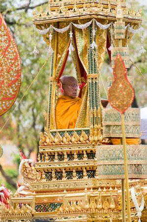 bejaratana: BANGKOK - APRIL 9: Prominent monk participating in the parade during the royal funeral of Her Royal Highness Princess Bejaratana on April 9, 2012 in Bangkok, Thailand. Editorial