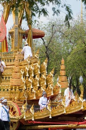 bejaratana: BANGKOK - APRIL 9: The ashes of of Her Royal Highness Princess Bejaratana being paraded from Wat Pra Kaew to Sanam Luang during the royal funeral ceremony on April 9, 2012 in Bangkok, Thailand. Editorial