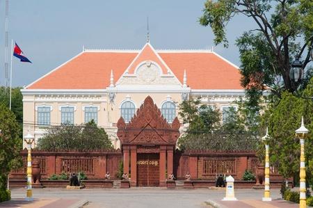 provincial: The provincial hall in Battambang City, Cambodia Stock Photo