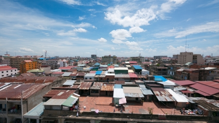 Rooftop view of Phnom Penh, the capital of Cambodia