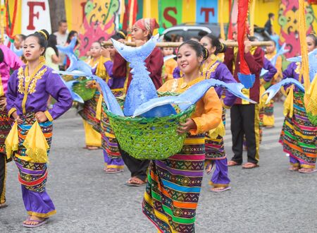 17th: General Santos City, The Philippines - September 6, 2015: The final street parade during the 17th Annual Gensan Tuna Festival 2015.