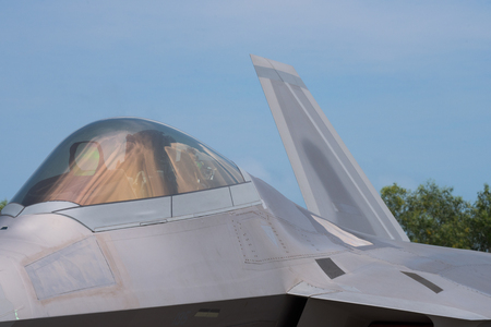 stealth: Detail of 5th generation fighter jet with stealth technology.
