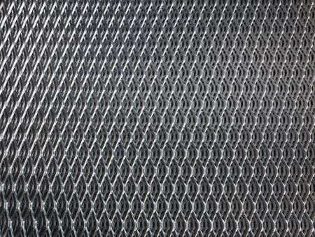 galvanised: Shiny, galvanised industrial steel grid for use as background. Stock Photo